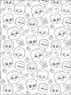 Desenhos para colorir e pintar O Poderoso Chefinho - Boss Baby 26