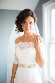 Lace off the shoulder bridal bolero: http://www.stylemepretty.com/2016/02/17/trending-bridal-boleros-thatll-blow-your-mind/