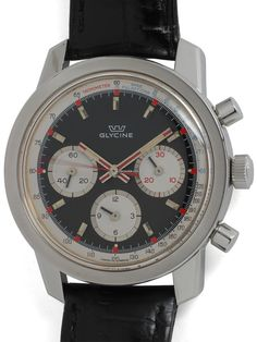 Glycine Stainless Steel 3 Registers Chronograph, circa 1960's