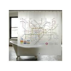 Tube map shower curtain.