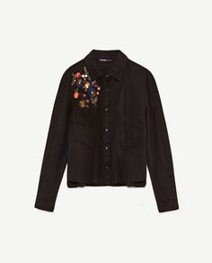 Image 8 of FLORAL EMBROIDERY SHIRT from Zara