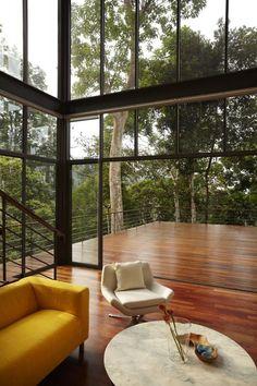 The Deck House / Choo Gim Wah Architect - House Design Inspiration - The Urbanist Lab Home Interior Design, Interior Architecture, Design Interiors, Design Apartment, House Deck, Contemporary Interior, Contemporary Landscape, Contemporary Stairs, Luxury Houses
