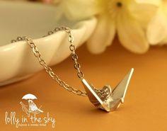 Lovely Tsuru Necklace (silver 925) loja.lollyinthesky.com.br