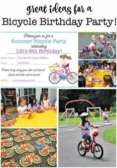 My daughter was so thrilled to learn how to ride her bike without training wheels, that she wanted to have a bicycle birthday party when she turned 6! All of the guests brought along their bikes, which we decorated as a party activity and then rode through an obstacle course! #KidsBirthdayParties #BicycleBirthdayParty #BikeParty #GirlsBirthdayParties Bicycle Birthday Parties, Bicycle Party, Birthday Party At Home, Birthday Party Games For Kids, Boy Party Favors, Birthday Activities, Kids Party Themes, Party Activities, Birthday Party Decorations