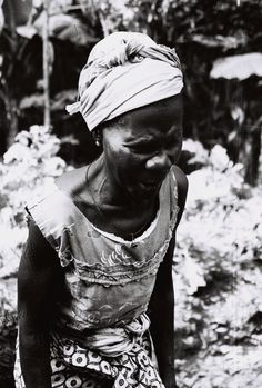 A woman from the village of Pujehun. Film, 1977.