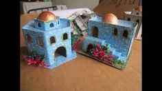Resultado de imagen para casas arabes para pesebres navideños Nativity House, Christmas Nativity, Christmas Home, Xmas, Home Crafts, Arts And Crafts, Diy Crafts, Holiday Ornaments, Christmas Decorations