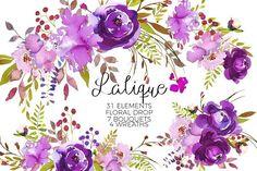 Watercolor Floral Graphic Bundle - Illustrations