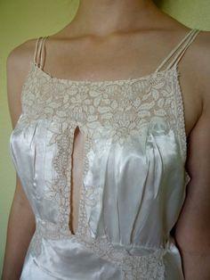 Night gown vintage silk by Rushnik on Etsy, $85.00