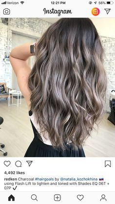 hair highlights sparkle – Welcome My World Brown And Silver Hair, Ashy Brown Hair, Ashy Hair, Beige Hair, Balayage Hair Blonde, Brown Blonde Hair, Haircolor, Bayalage Braun, Redken Hair Color