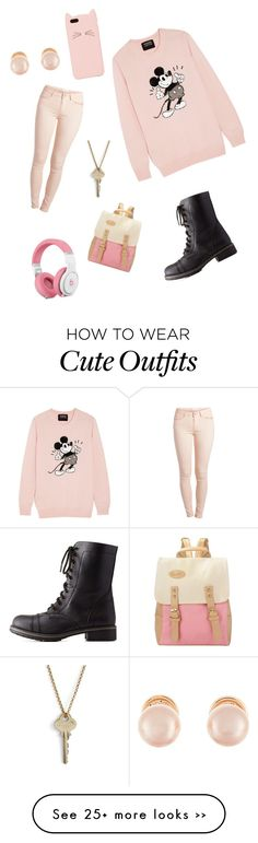 """collab outfit with bff"" by zonell on Polyvore featuring Pieces, Markus Lupfer, Charlotte Russe, Kate Spade, The Giving Keys and Kenneth Jay Lane"