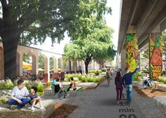 Underline park would stretch below elevated rail tracks in Miami