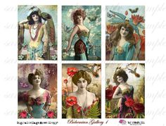 BoHeMiAn GaLLeRy - ATC - Digital Collage Sheet (no 260).