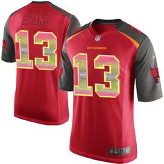 Nike Men's Buccaneers #13 Mike Evans Stitched NFL Limited Strobe Red Team Color Jersey
