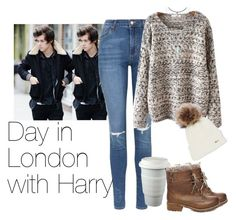"""Day in London with Harry"" by cheyenne-stock ❤ liked on Polyvore featuring Topshop and Steve Madden"