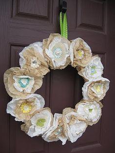 Front door wreath for spring & summer time.