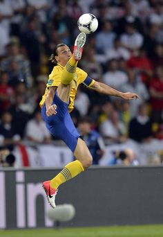Zlatan Ibrahimovic is doing this that others can't even think of doing. He is reinventing soccer. Zlatan, please join the MLS!