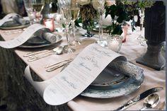 US Grant San Diego, Cinderella wedding inspiration, Friar Tux Shop, chandelier, table setting, petunias, vintage table decor and scroll invitations.