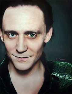 LOKI! Realistic Celebrity Pencil Drawings by Natasha Kinaru - outstanding!