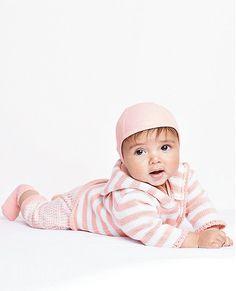Hocosa Wool Silk Pilot Cap Natural White Organic Baby Clothes