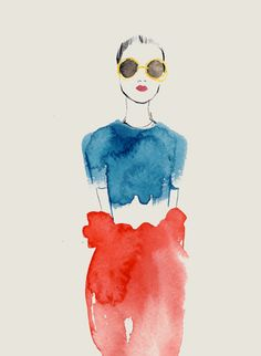 Fashion illustration. This would be chic to wear to a cocktail party ....