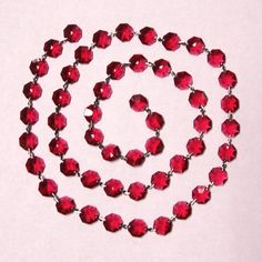 CrystalPlace.com -Swarovski Bordeaux Crystal Garland 1 meter lengths