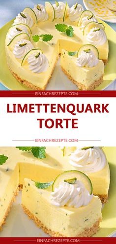 Limetten-Quark-Torte Limetten-Quark-Torte The post Limetten-Quark-Torte appeared first on Kuchen Rezepte. Baked Cheesecake Recipe, Cheesecake Cookies, Lemon Desserts, Food Cakes, Chip Cookies, Nutella, Cookie Recipes, Food And Drink, Sweets