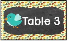 This product contains table and teams signs. Each label comes in a rectangular…