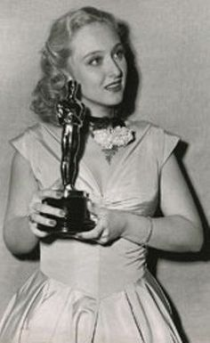 Sackler awardee and legend, Celeste Holm and her Academy Award!