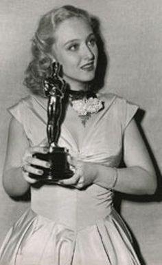 Sackler awardee and legend, Celeste Holm and her Academy Award!