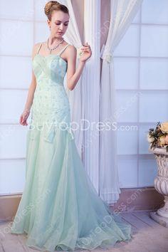 Desirable Spaghetti Straps Aqua Full Length Prom Dresses With Beads at buytopdress.com#DesignerDress #CheapDress  #CocktailDress  #Fashion  #PromDress  #BatMitzvahDresses #EveningDresses #MarineBallDresses #MaxiDresses