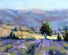Where the Lavender Grows by Trisha Adams Oil ~ 24 x 30 Abstract Landscape Painting, Landscape Art, Landscape Paintings, Acrylic Paintings, Watercolor Landscape, Abstract Paintings, Art Paintings, Selling Paintings, Painting Competition