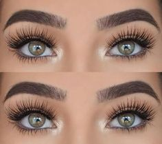 "Laura Badura is wearing Lilly Lashes in style ""Diamonds"" from the Luxury Collection"