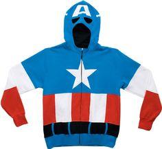 Captain America Costume Hoodie