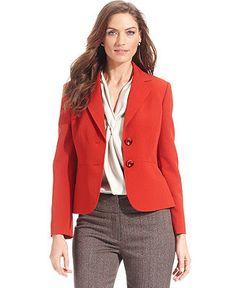 a9334f2c2d8 Kasper Two-Button Blazer   Reviews - Jackets   Blazers - Women - Macy s