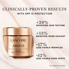 An anti-aging face cream that provides skin rejuvenation and all-day hydration. With SPF 15 sunscreen protection, skin is more resilient to visible signs of aging caused by sun damage. Velvet Cream, Skin So Soft, Skin Care Regimen, Sunscreen, Beauty Skin, Anti Aging, Routine, Moisturizer, Skincare
