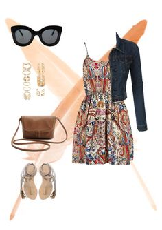 """""""Color"""" by junkiastros on Polyvore featuring moda, LE3NO, L*Space, Forever 21 e CÉLINE"""