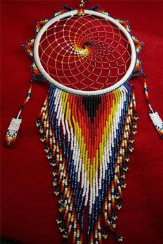 Awesome Unique Beaded w Quills Dreamcatcher Story Native American Indian Indian Beadwork, Native Beadwork, Native American Beadwork, Native American Jewelry, Native American Crafts, Native American Indians, Dream Catchers, Dreamcatcher Story, Cadeau Surprise