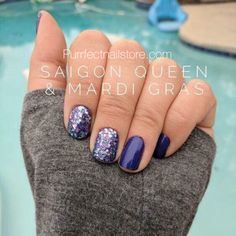 Beautiful combo of Saigon Queen & Mardi Gras. Color Street 100% real nail polish strips.