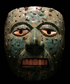 British Museum Turquoise mosaic mask | Mixtec-Aztec, AD 1400-1521