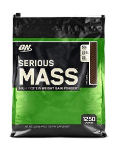 Optimum Nutrition Serious Mass Weight Gainer Protein Powder, Vitamin C, Zinc and Vitamin D for Immune Support, Banana, 12 Pound (Packaging May Vary) Low Carb Protein, Protein Blend, Whey Protein, Healthy Protein, High Protein, Healthy Life, Healthy Food, Muscle Mass, Gain Muscle
