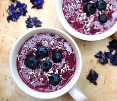 <p> I threw in some frozen Acai Berry which adds a rich berry-cocoa flavor that is a lovely compliment to the sweet, slightly tart flavor of the blueberries. This smoothie is packed with flavor and valuable nutrients. While drinking this smoothie, imagine all the wonders it is doing for your body, like fighting free radicals with powerful antioxidants that may help reduce the risk of some diseases, such as heart disease and cancer.</p>