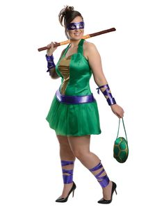 ninja turtle costumes for women | Teenage Mutant Ninja Turtles Donatello Adult Womens Plus Size Costume
