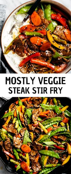 Classic steak stir fry gets a healthy upgrade in this easy weeknight dinner recipe. - The ingredients and how to make it please visit the website Easy Chicken Dinner Recipes, Winter Dinner Recipes, Delicious Dinner Recipes, Dinner Ideas, Fast Dinners, Easy Weeknight Dinners, Easy Meals, Recipes For Beginners, Quick Recipes