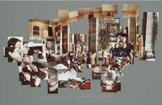 david hockney photo collage   David Hockney, photo-collage, joiners, Christopher Isherwood, Bob ...