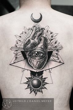 Duality by Daniel Meyer. GORGEOUS #eye #Sun #tattoo
