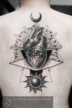 Duality by Daniel Meyer. GORGEOUS #eye #Sun #tattoo