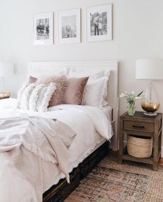 Lacey's Guest Bedroom Makeover - Styled With Lace Home Interior, Decor Interior Design, Home Bedroom, Bedroom Decor, Bedroom Ideas, Bedroom Inspo, Kids Bedroom, Bedroom Furniture, Home Design