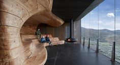 From Snøhetta, A  Nature Pavilion That Evokes Eroded Rock