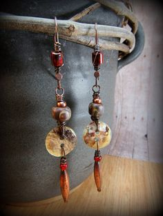 Crusty Mother of Pearl Button and Copper by AllowingArtDesigns