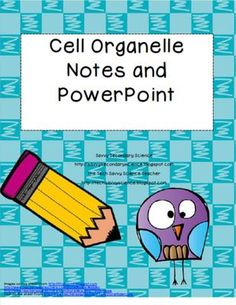 Cell Organelle notes and powerpoint from Savvy Secondary Science on TeachersNotebook.com -  (4 pages)  - The mini-bundle includes notes (students fill in the blank and full text copy) and a power point presentation on the cell organelles.